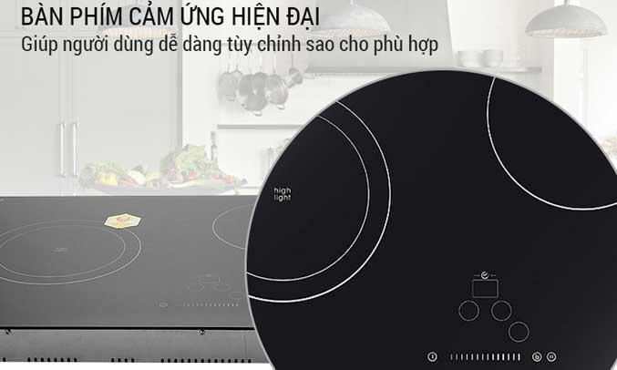 Bếp Candy được trang bị bảng điều khiển cảm ứng kết hợp với âm báo siêu nhạy,
