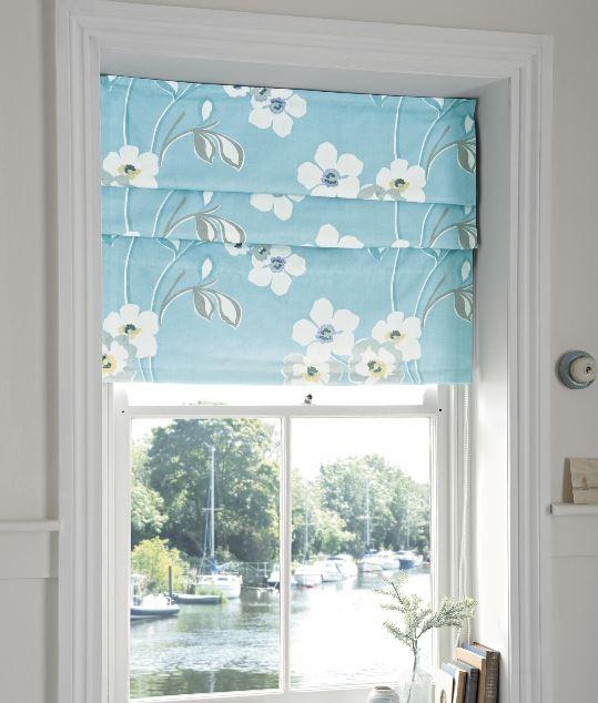 Rèm Roman vải hoa