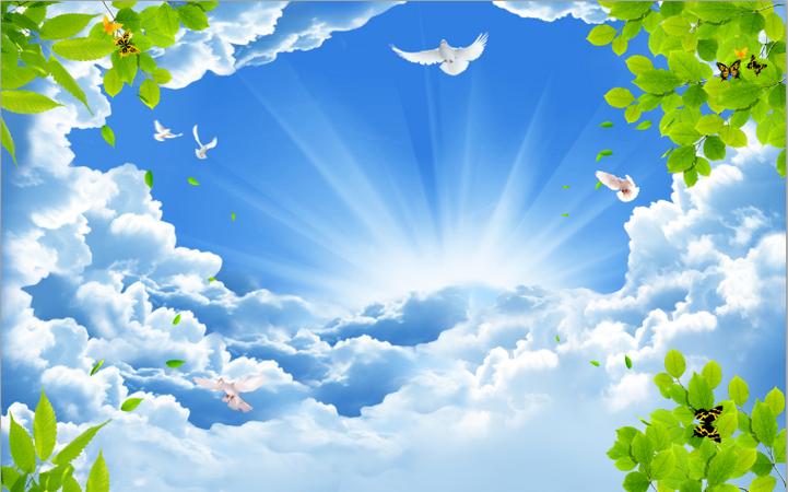 Tranh dán tường bầu trời