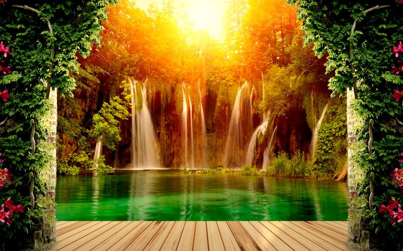 Tranh dán tường phong cảnh