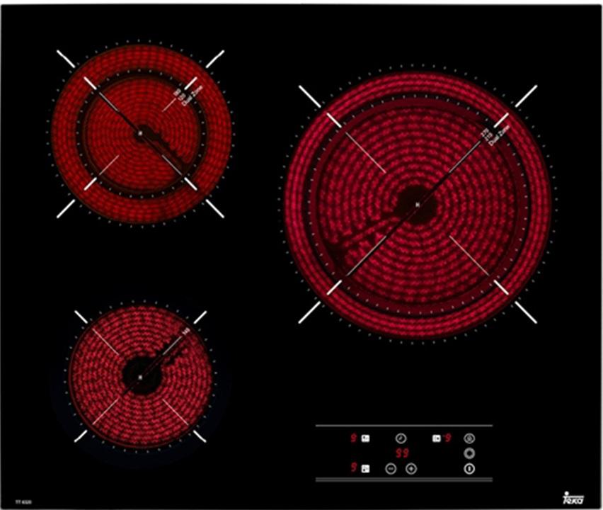 Kết quả hình ảnh cho Bếp Điện 3 Teka TR6320