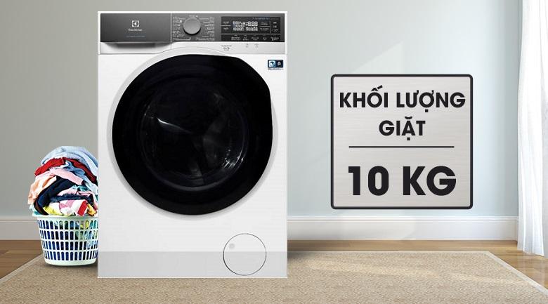 Khối lượng giặt 10 kg - Máy giặt sấy Electrolux Inverter 10 kg EWW1042AEWA