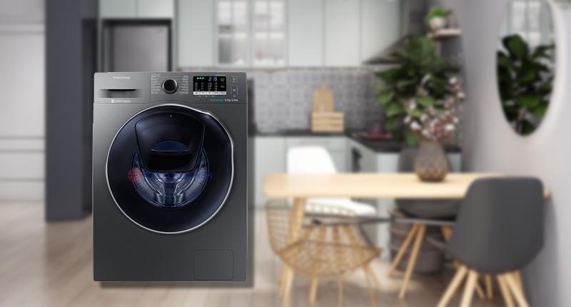 Máy giặt sấy Samsung AddWash Inverter 8 kg WD85K5410OX/SV