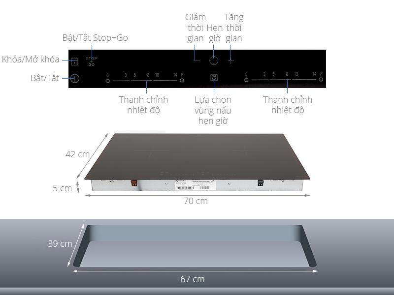 Thông số kỹ thuật Bếp điện từ đôi Electrolux EHI7260BA