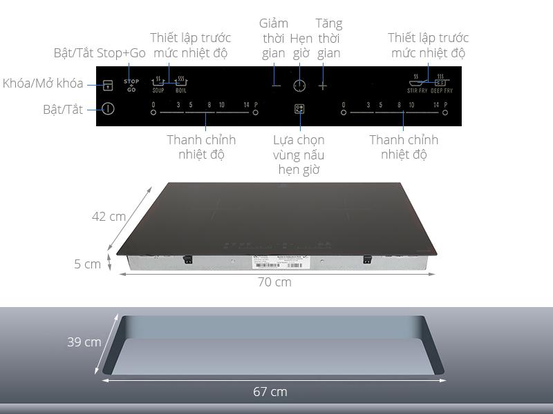 Thông số kỹ thuật Bếp điện từ đôi Electrolux EHI7280BA