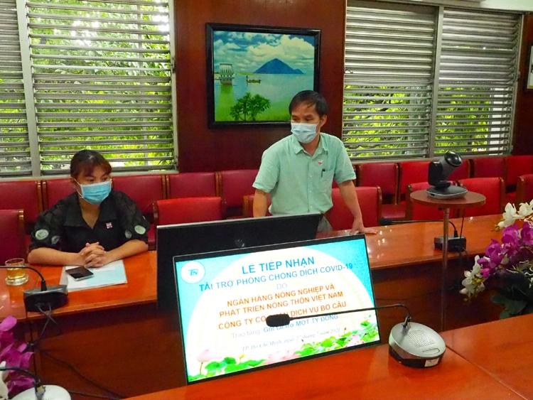 Agribank góp phần hỗ trợ các bệnh viện tuyến đầu TP. Hồ Chí Minh chống dịch Covid-19